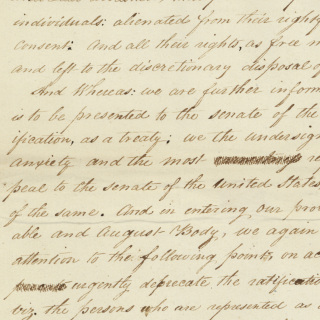 Petition Against the Treaty of New Echota