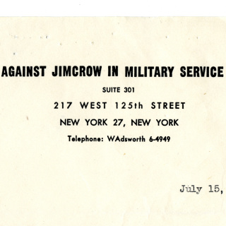 Against Jim Crow in Military Service