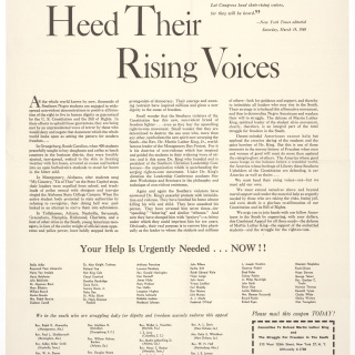 """Heed Their Rising Voices"""