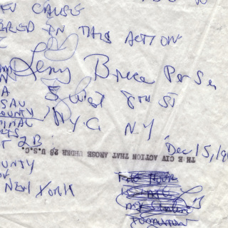 Appeal Request from Lenny Bruce
