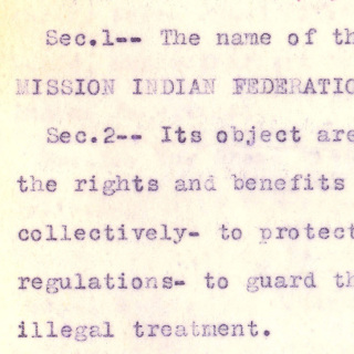 Mission Indian Federation Constitution