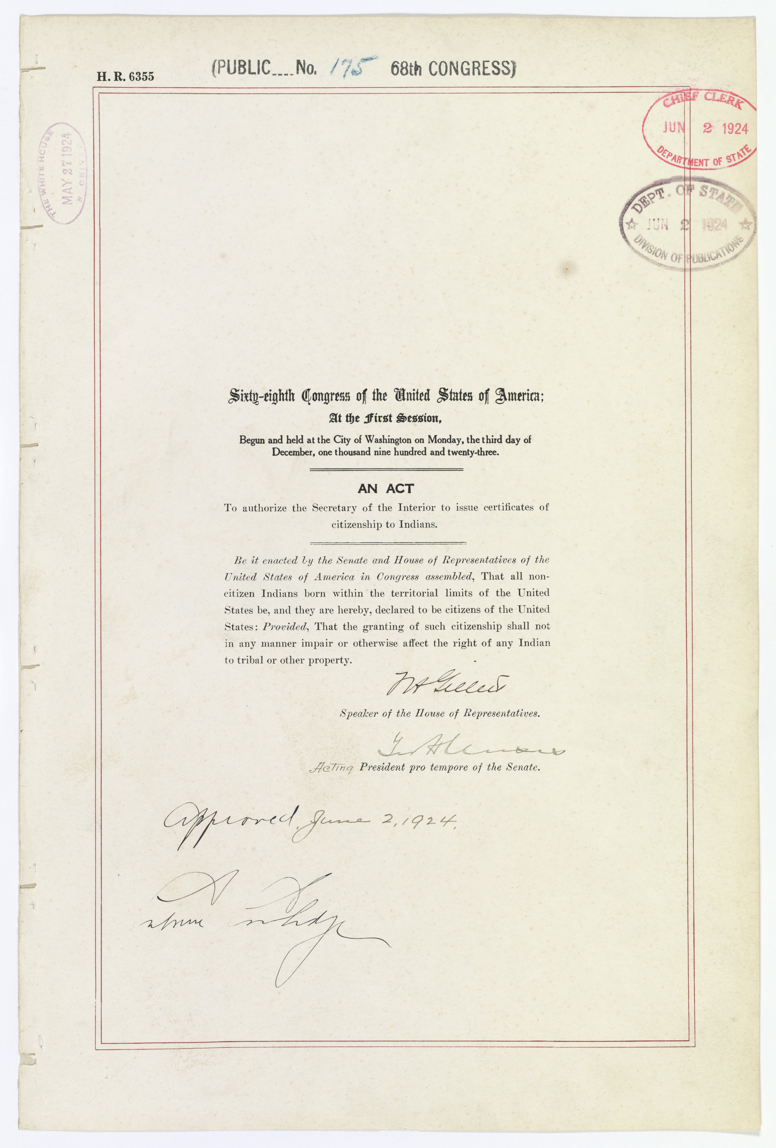 Indian Citizenship Act, 1924 | Records of Rights