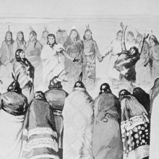 Engraving Depicting the Ghost Dance