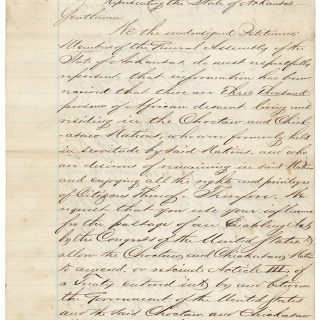 Arkansas Petition for Freedmen's Rights