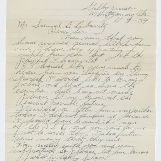 Clarence Norris Letter to his Attorney