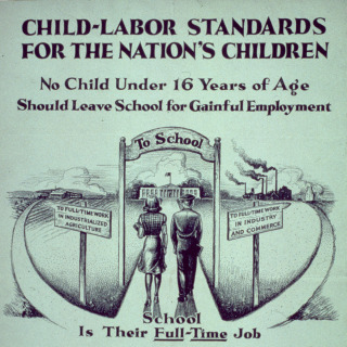 Child labor standards poster