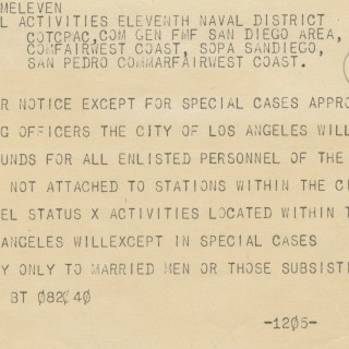 Enlisted Personnel Barred from Los Angeles