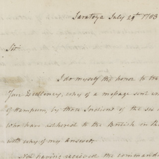 Letter to the Continental Congress