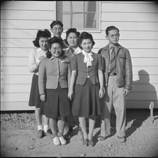 George Fujii and others at Poston, Arizona