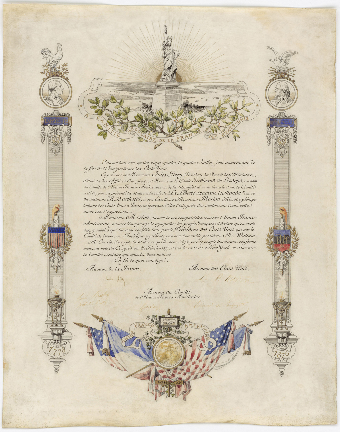 Statue of Liberty Deed of Gift